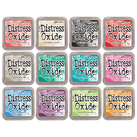 Tim Holtz Distress Oxide Ink Bundle June 2017 Release 2 Includes 12 Ink Pads