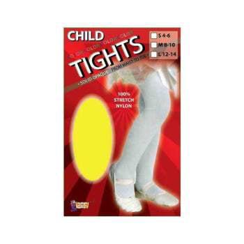 CHILD TIGHTS-YELLOW-LARGE