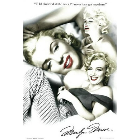 Marilyn Monroe Poster Red Lips Collage New 24X36
