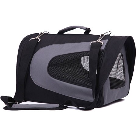 Iconic Pet Furrygo Universal Collapsible Pet Airline Carrier  Black