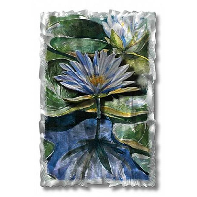 All My Walls NOR00013 Water Lilies Metal Wall Art