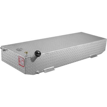 RDS Aluminum 70387 48 gal Rectangular Auxiliary Fuel Tank, Diamond Plate Chrome Plated Fuel Line