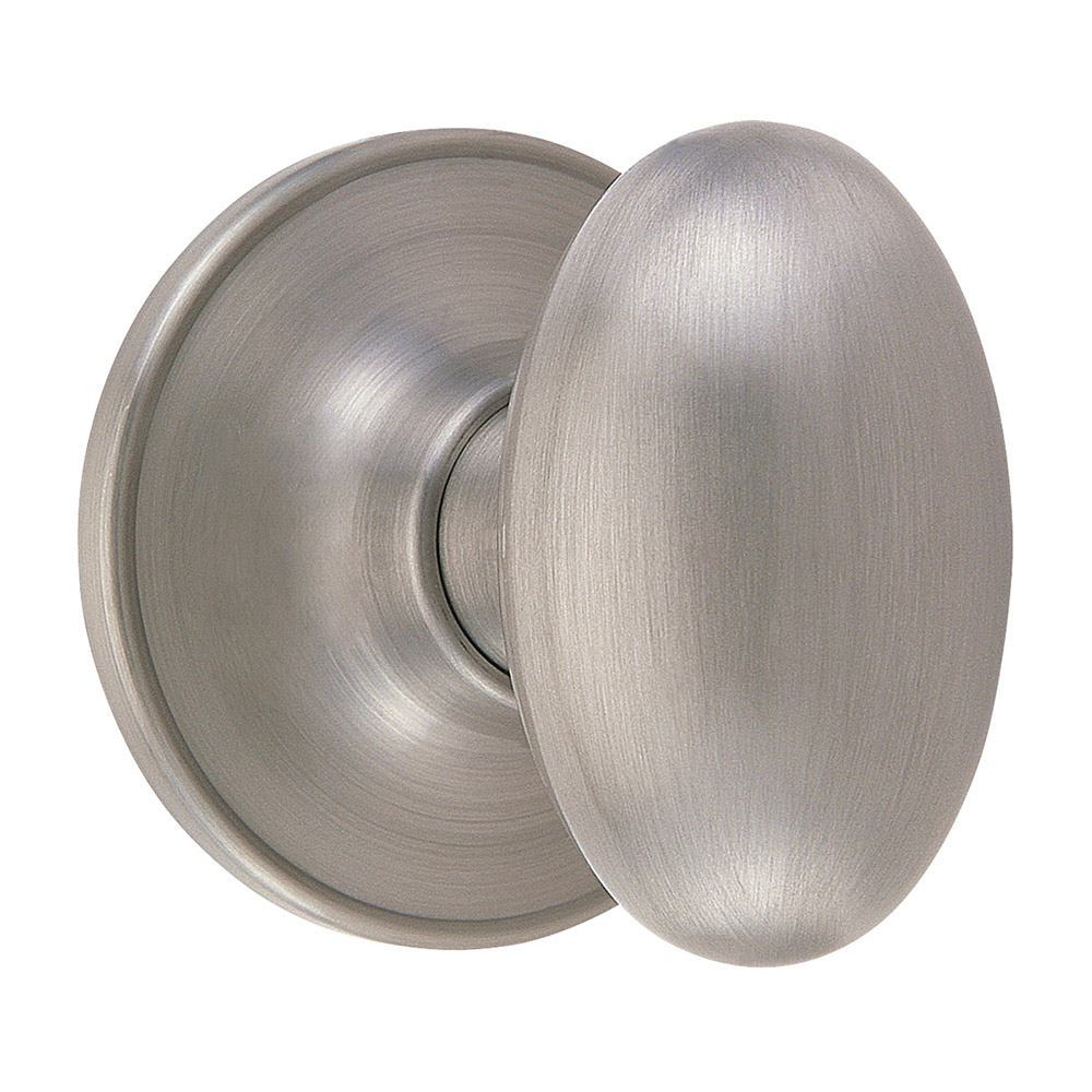 Design House 750620 Egg Dummy Knob, Satin Nickel