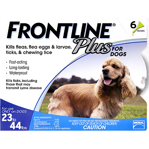 Frontline Plus Flea, Tick, and Lice Control for Dogs 23-44lbs, 6 Month Supply