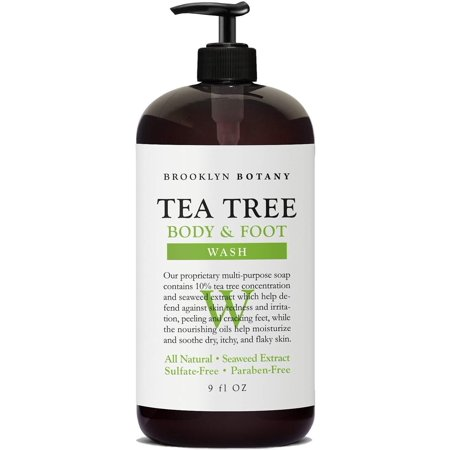Bad Body Odor (Brooklyn Botany - Antifungal Tea Tree Oil Body Wash - Extra Strength, Helps Cracking Feet, Skin Blemishes & Irritations, Body Odor - Soothes Itching &...)