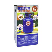 Unique 9in Helium Tank Kit for Birthday Party, Includes 50 Balloons & Ribbon