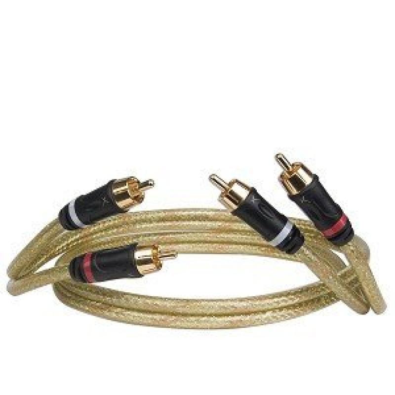 GOLDX 3' GoldX PlusSeries GXAV-LR-03P 2-Channel (M) to (M) Composite Analog Audio Cable w/Premium 24K Gold-Plated Connec