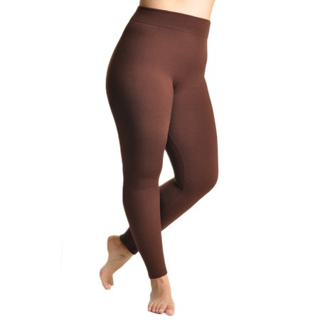 d0585f4ab5a253 Angelina - Winter Warmth Seamless Plush Lined Footless Leggings -  Walmart.com
