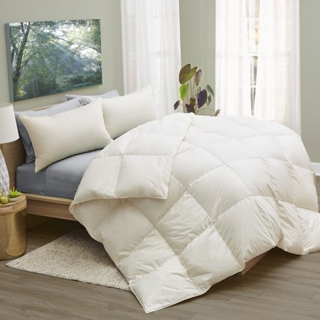 1221 Bedding  LanaDown Wool/ Down Organic Cotton Comforter with BONUS Wool Dryer Balls