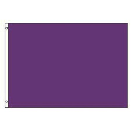 Purple Flag Solid Color Banner Advertising Pennant Decoration Outdoor Decor 3x5 - Flag Decorations