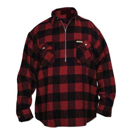 Hickory Shirt Co. Buffalo Plaid Classic 1/2 Zip Long Sleeve Flannel Shirt