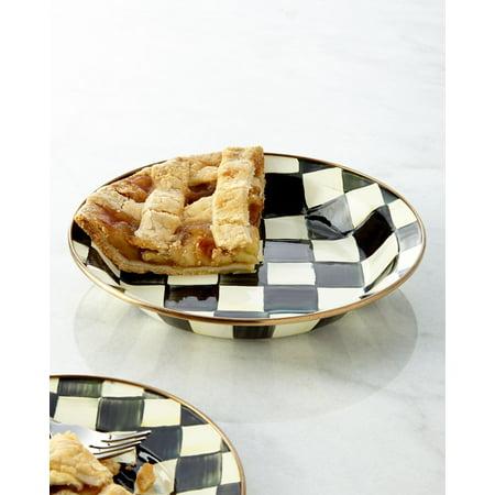 - MacKenzie-Childs Courtly Check Enamel Pie Plate