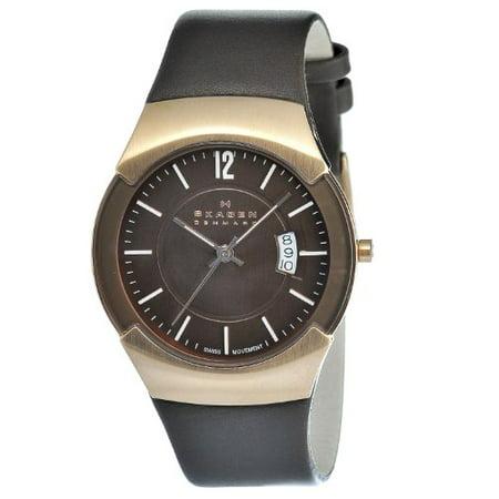 Skagen Men's 981XLRLD Stainless Steel Brown Dial Watch