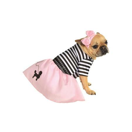 Pink Fifties Girl Pet Costume (Fifties Costume Ideas)