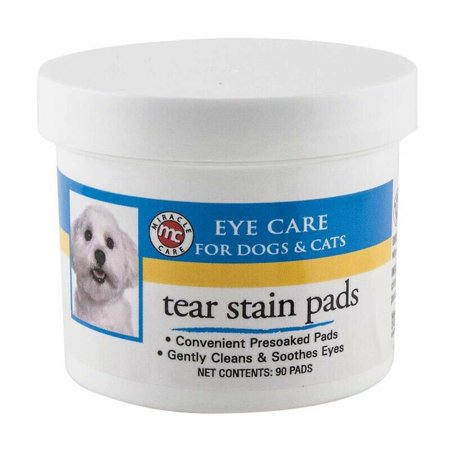 Dog Grooming Tear Stain Wipes 90ct Presoaked Pads Gentle Pet Eye Cleaning Care