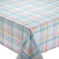 """Design Imports Easter Basket Plaid Kitchen Tablecloth, 52""""x52"""" , 100% Cotton, Multiple Colors by Dii"""