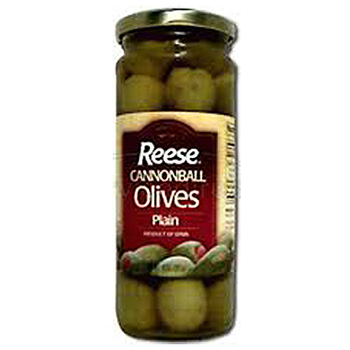 Reese Plain Cannonball Olives, 10 oz (Pack of 6)