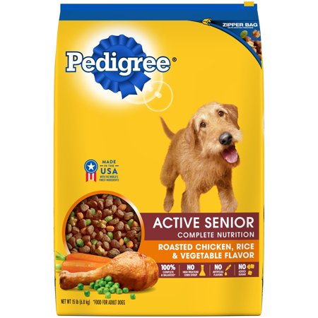 Pedigree Active Senior Roasted Chicken, Rice & Vegetable Flavor Dry Dog Food 15
