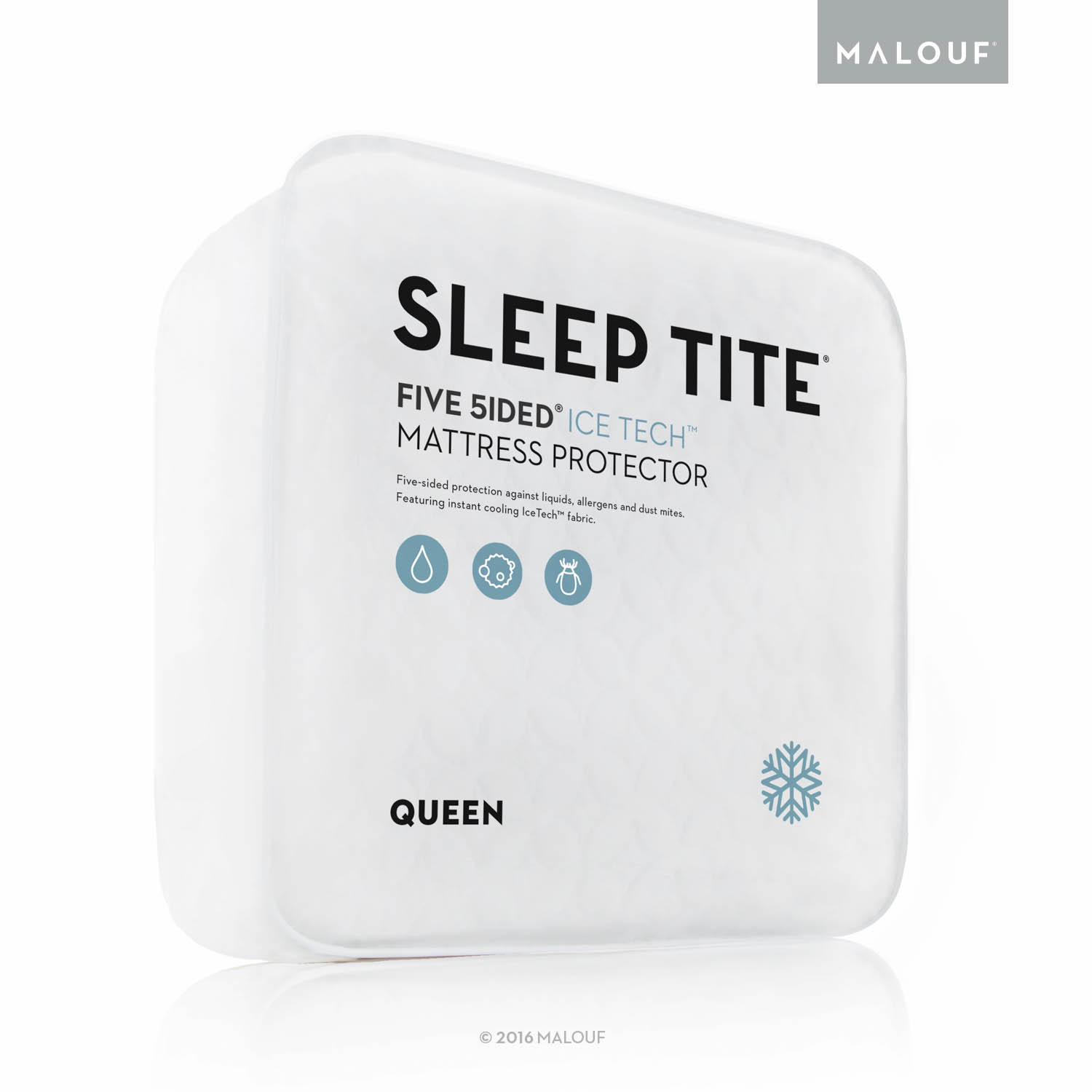Malouf Sleep Tite Five Sided IceTech Waterproof Mattress Protector with Cooling Technology - Full XL