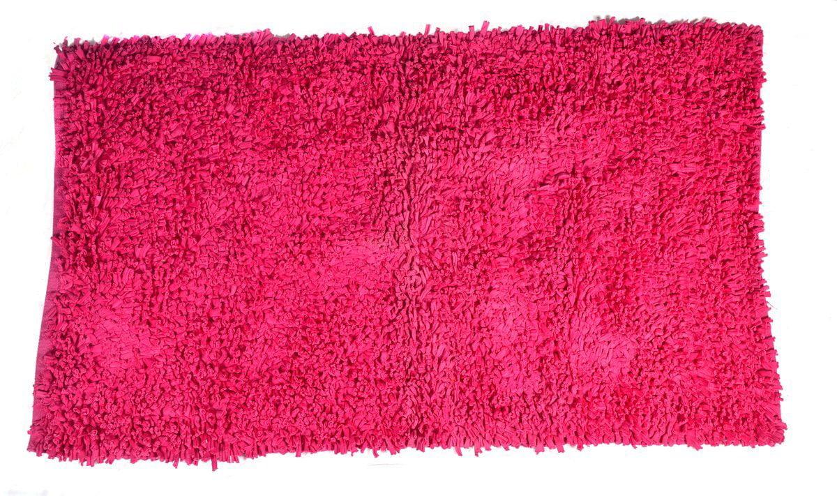 Pink Shaggy Doormat 2x3 ft Area Rug Soft Shag (24''x 36'') Doormat Living Room Bedroom... by MystiqueDecors