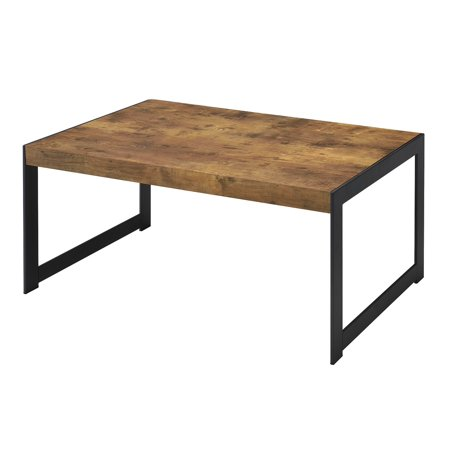Coaster Home Furnishings 704028 Coffee Table, NULL, Antique Nutmeg/Gunmetal ()