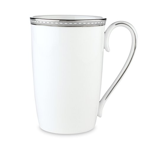 Lenox Murray Hill Platinum Banded Bone China Accent Mug by