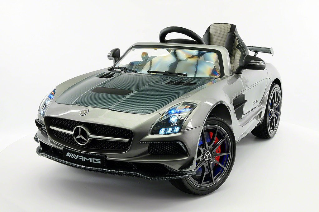 2018 Mercedes SLS AMG 12V Battery Powered Motorized Ride on Toy Car with Built in LCD TV, LED Lights, Leather... by