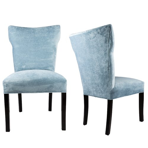 Everly Quinn Cresson Wing Back Upholstered Parsons Chair (Set of 2)