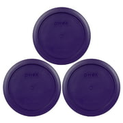 Pyrex Replacement Lid 7201-PC 4-Cup Plum Purple Plastic Cover 3-Pack for Pyrex 7201 Bowl (Sold Separately)