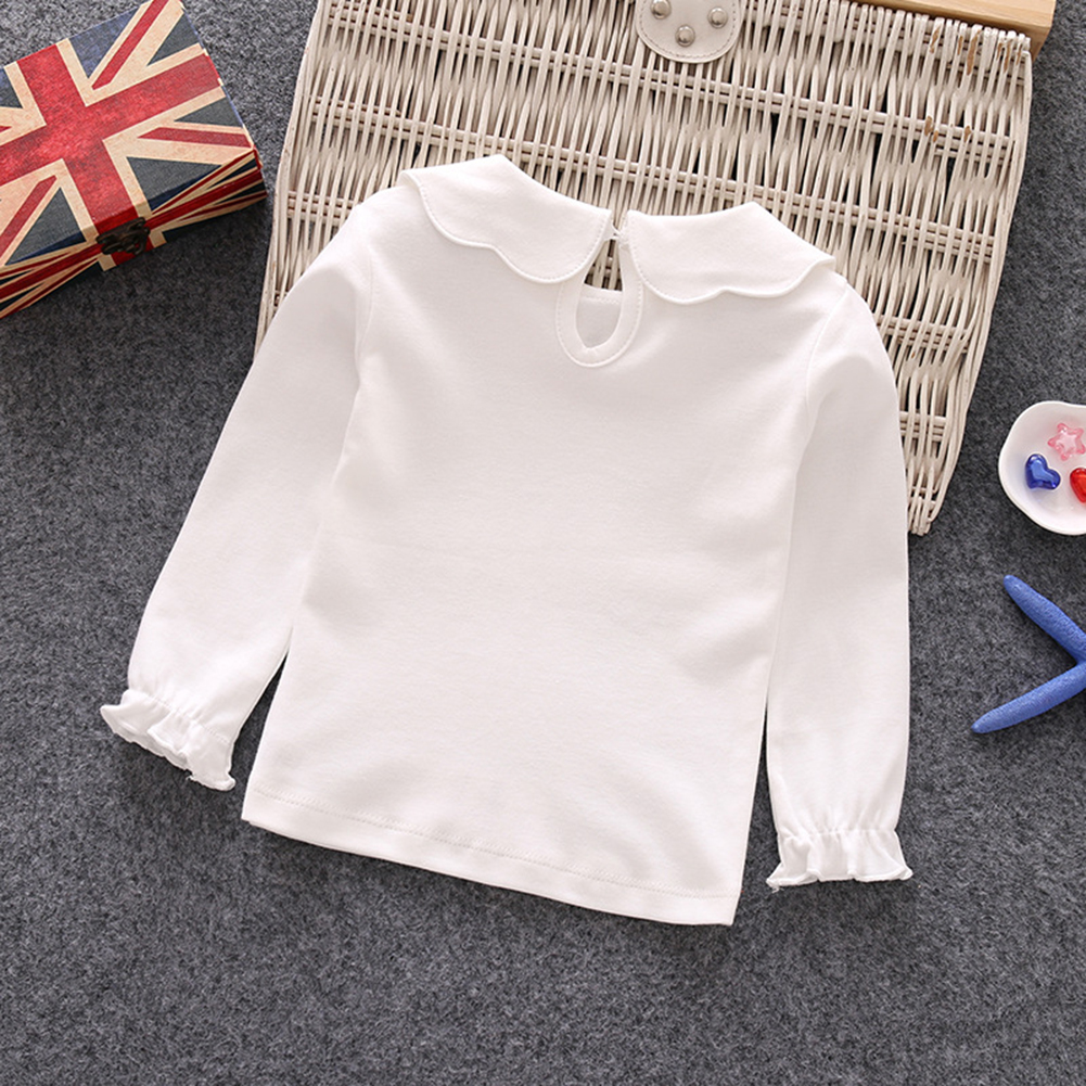 baby girl Cottage Flower Ruffle Collar Shirt toddler casual shirt peter pan collar unisex kids collared shirt baby tee