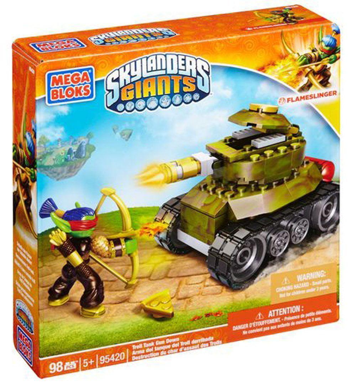 Mega Bloks Skylanders Flameslinger Troll Tank Gun Down by Mega Bloks