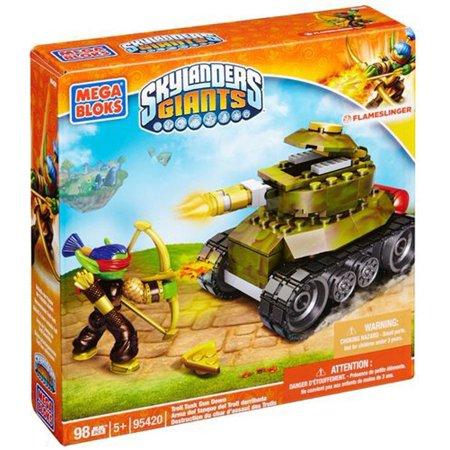 Mega Bloks Skylanders Flameslinger Troll Tank Gun Down