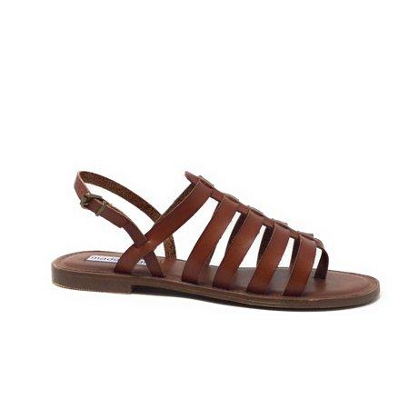 Madden Girl Womens Strapper Slingback Gladiator Sandal Flat Brown Size 7 M