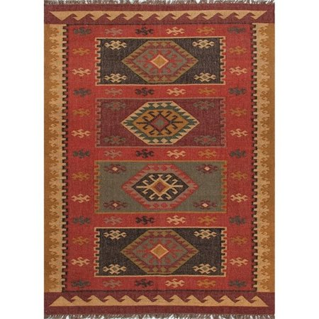 Jaipur Rugs Bedouin 2' x 3' Flat Weave Jute Rug in Red and Yellow