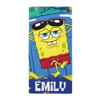 Personalized SpongeBob SquarePants Raft Beach Towel