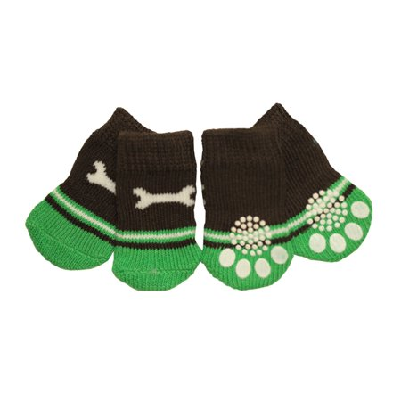Cute Wrench Design Anti-Slip Dog Socks for Clean & Comfy Paws - Pets Puppy 4pcs