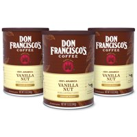 Don Francisco's Vanilla Nut Ground Flavored Coffee, 100% Arabica 12 oz (Pack of 3)