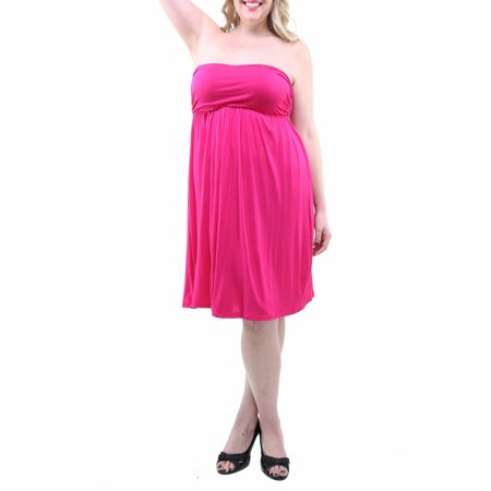 Women's Plus Size Strapless Dress A-line Strapless Chapel Train