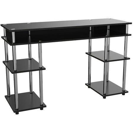 Convenience Concepts Designs2Go No Tools Student Desk, Black ()