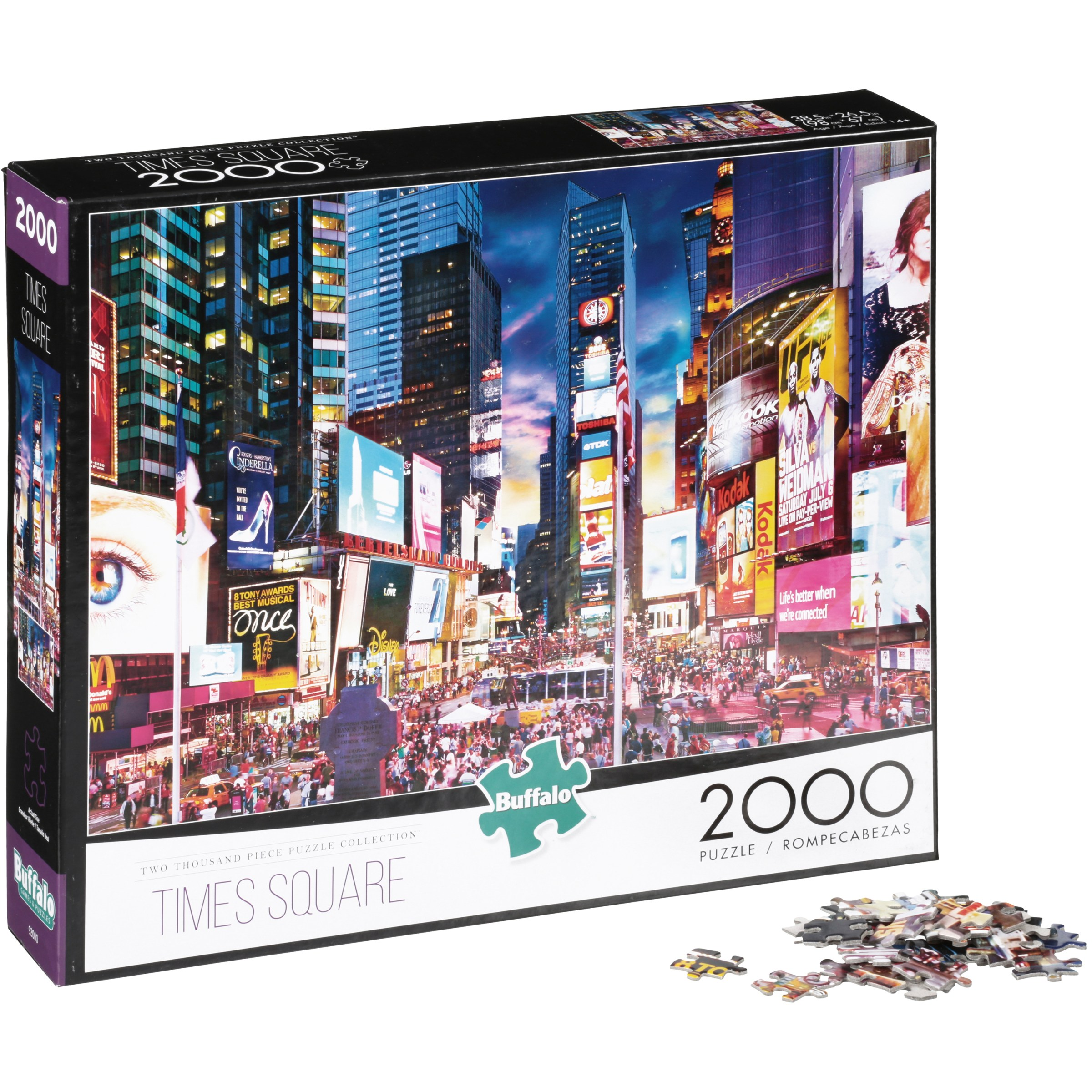Buffalo Two Thousand Piece Collection Times Square Puzzle 2000 pc Box by Buffalo Games, Inc.