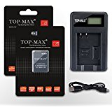TOP_MAX USB Charger MH_65 MH65 and 2 Pack EN_EL12,ENEL12 ...