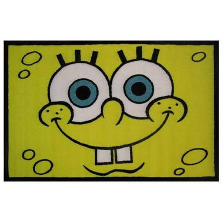 39 x 58 in. Nickelodeon Spongebob Head Kids Rugs, Multicolor