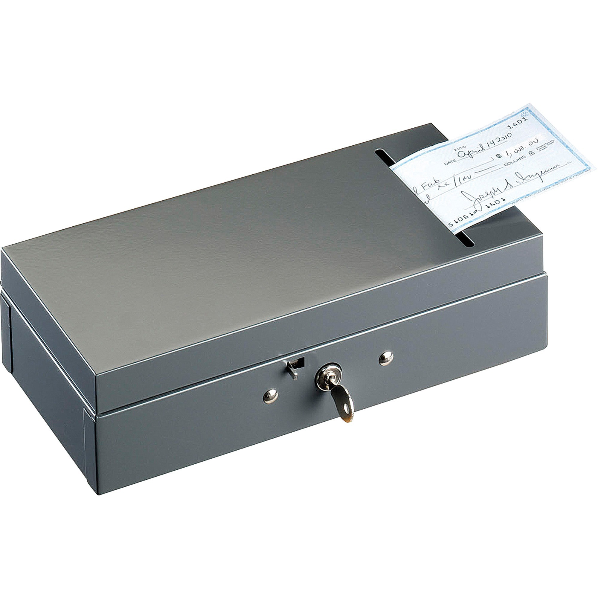 MMF, MMF221104201, ChequeSlot SteelMaster Bond Box, Charcoal Gray