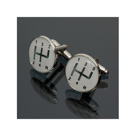 2Pcs Car Gears Mens Business Shirt Cufflinks Cuff Links White Sleeve Button Gift