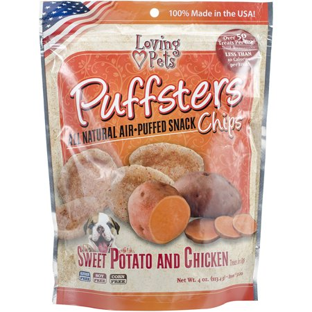 Puffsters Treat Chips, 4oz Sweet Potato & Chicken (Halloween Treats Sweets)