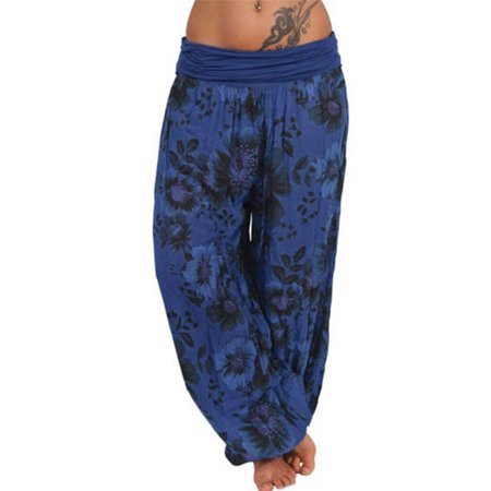 Womens Harem Pants Gypsy Hippie Baggy Sports Yoga Boho Loose Casual Trousers