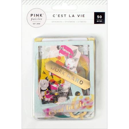 Retinyl Acetate (C'est La Vie Ephemera Die-Cuts, 50pk, Cardstock and Acetate with Gold Foil)