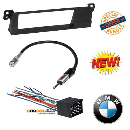 American Dash Trim - 99-01 E46 3-SERIES CAR STEREO RADIO KIT DASH INSTALLATION TRIM W/ WIRING HARNESS AND ANTENNA