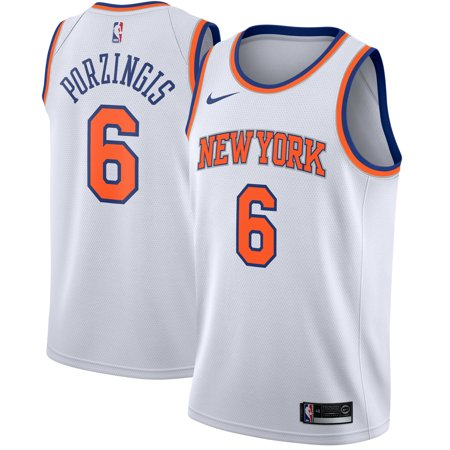 Kristaps Porzingis New York Knicks Nike Swingman Jersey White
