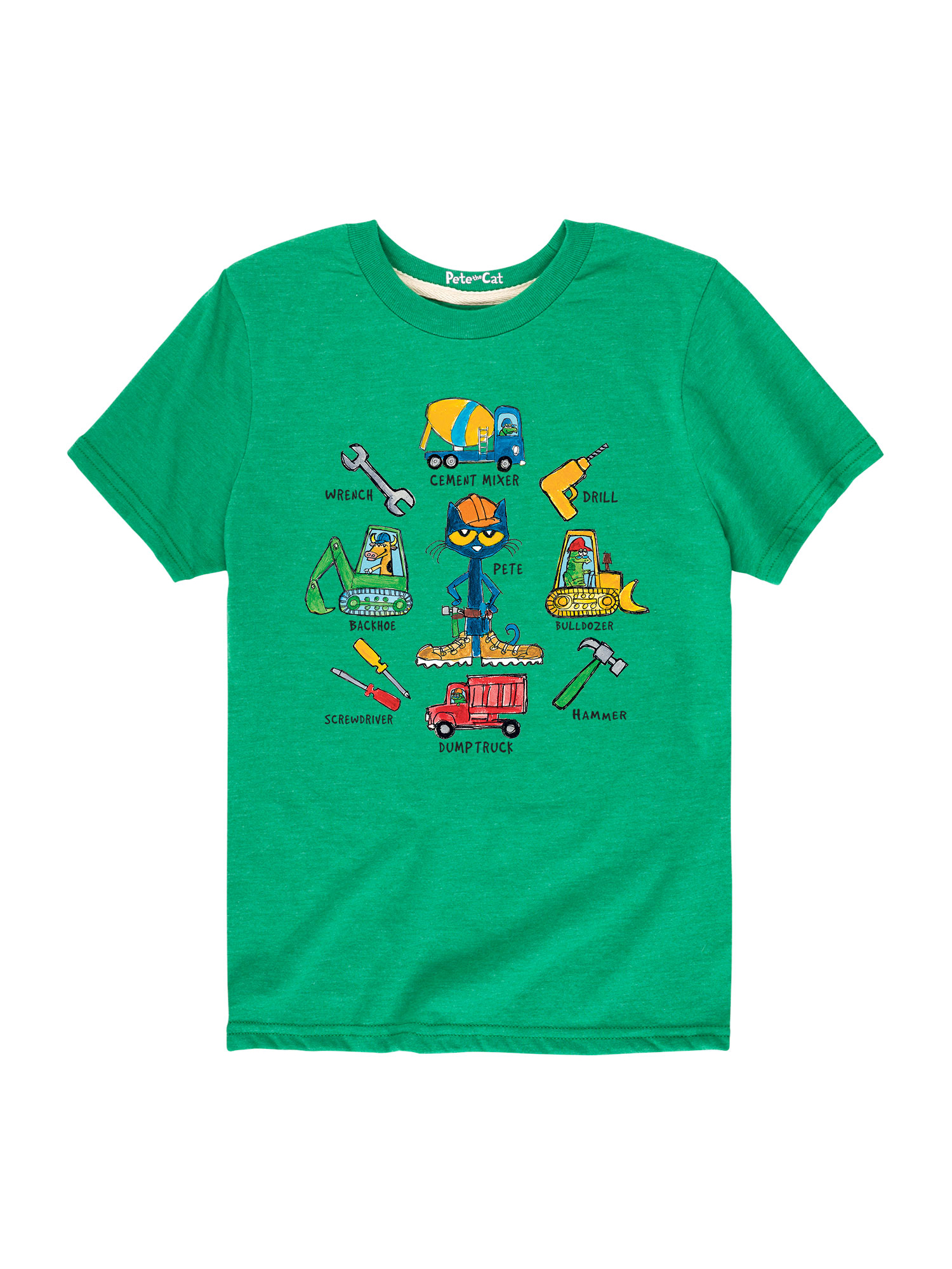 Pete The Cat Construction Tools - Toddler Short Sleeve Tee